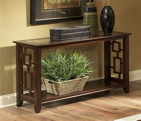 Decorating Sofa Table by Cherry Finish Modern Coffee Table W Glass Insert Top