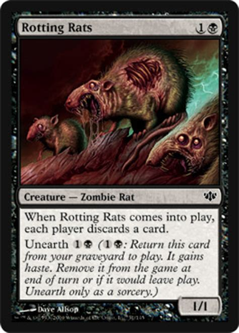 rat deck mtg modern rotting rats the magic the gathering wiki magic the