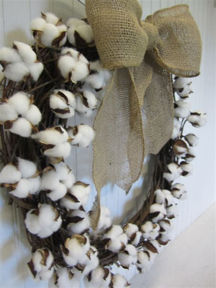 hometalk      cotton boll branch wreath