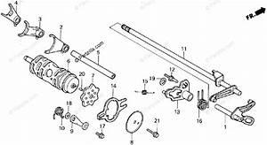 Honda Atv 1986 Oem Parts Diagram For Gearshift Drum