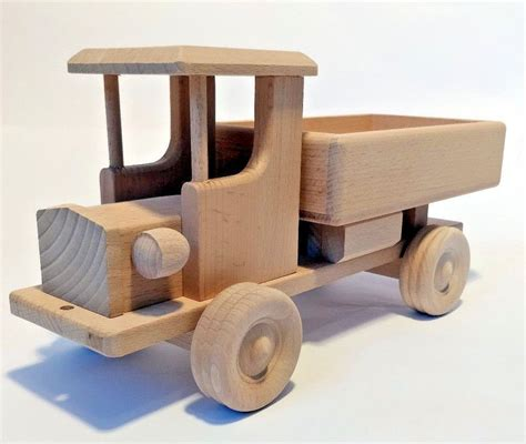 big truck toy car vehicle wooden beech wood natural eco