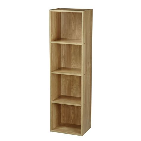 Shelving And Storage Units by Oak Wooden 4 Tier Storage Bookcase Shelving Display Shelf