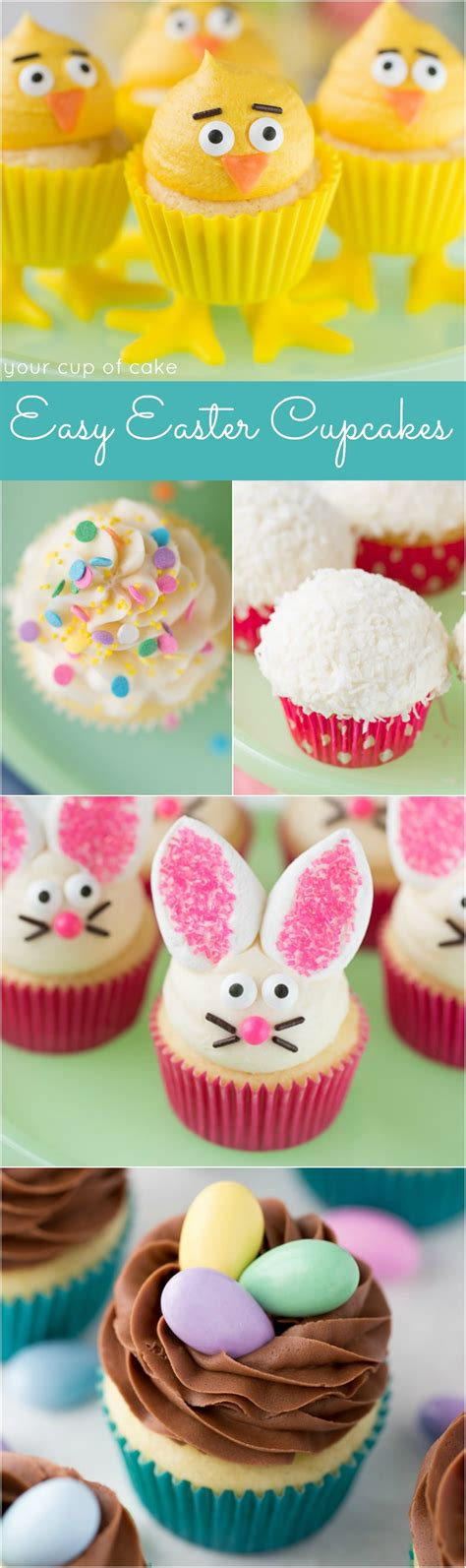easy easter cupcake ideas easy easter cupcake decorating and decor your cup of cake