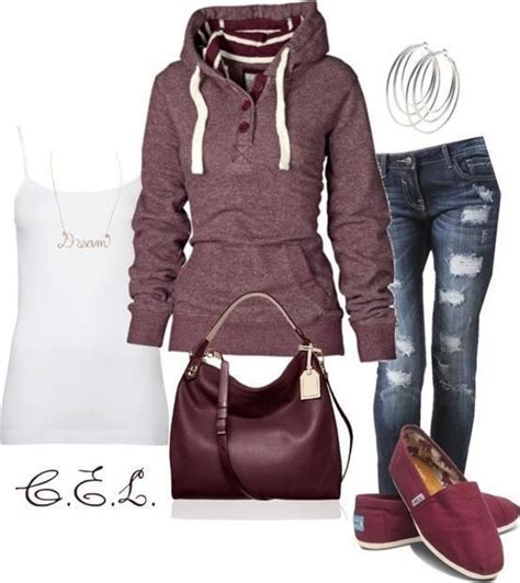Maroon hoodie outfit | Outfits | Pinterest | Hoodies Hoodie outfit and Outfit