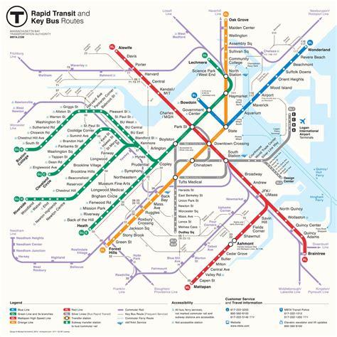 mbta map redesigns bostonography