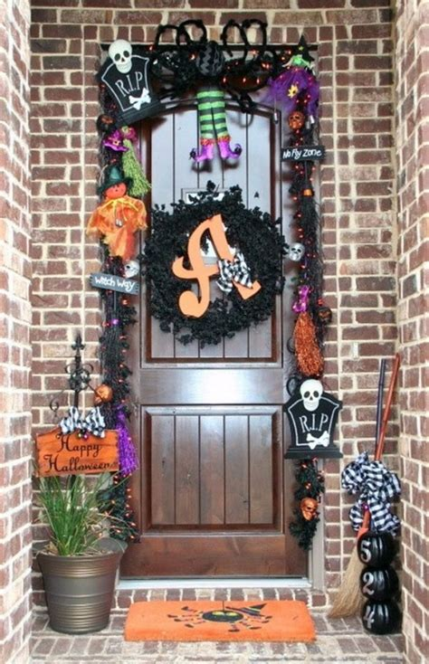 cool outdoor halloween decorations  ideas family
