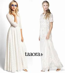Robe Blanche Longue Boheme : robe longue blanche boh me chic taaora blog mode tendances looks ~ Preciouscoupons.com Idées de Décoration