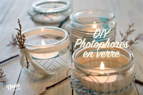 on va customiser des pots de yaourts en verre pour faire des photophores ambiance nature