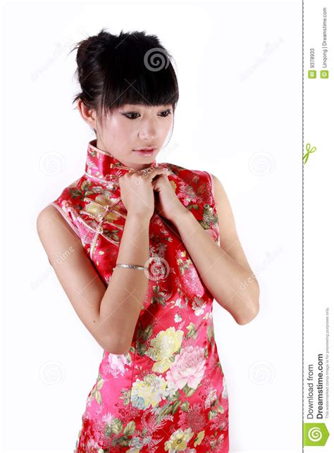 Chinese Girl In Traditional Dress Stock Photos - Image 9378933