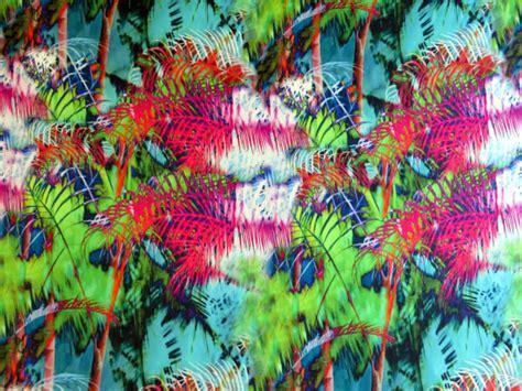 tissu satin imprime tropical  sweet mercerie