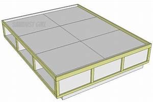 PDF DIY Queen Size Storage Bed Frame Plans Download