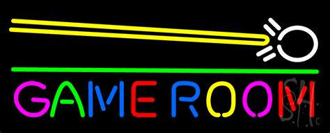 Game Room Cue Stick Neon Signgames Neon Signs Every