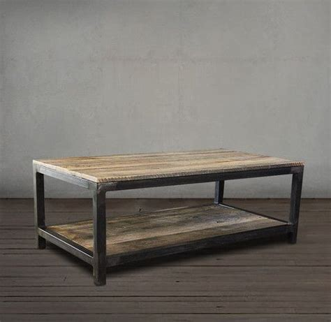Couchtisch Stahl Holz by Reclaimed Wood And Metal Coffee Table Two Tier