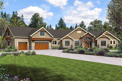 mountain craftsman home plan  bonus room  optional
