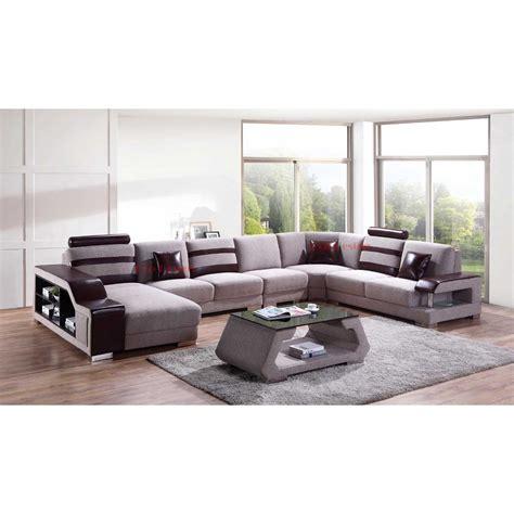 canapé en u design canapé panoramique en microfibre castel canapés en u