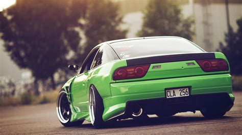 Nissan, 240sx, Green, Jdm, Car, Stance Wallpapers Hd