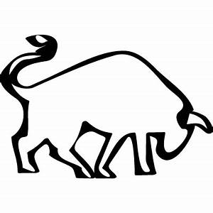 Bull side view outline ⋆ Free Vectors, Logos, Icons and ...