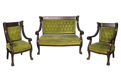 One Settee by Edwardian Set Including One Settee And Two