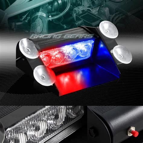 red led vehicle warning lights 4 led red blue emergency car dashboard warning flash