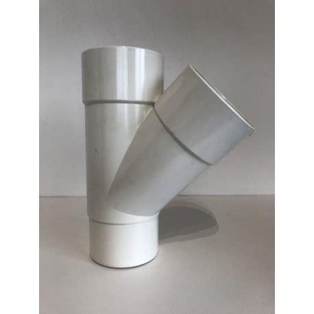 gouttière pvc blanc culotte de goutti 232 re pvc blanc 45 176 mf d80