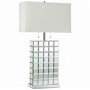 Cyan Design 04119 Mirrored Tile Contemporary Table Lamp CN