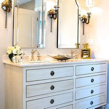 Restoration Hardware Maison Vanity by Arched Bathroom Alcove With Washstand And Venetian
