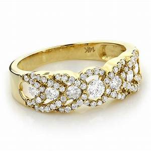 Gold diamond wedding rings for women unique diamond for Ladies gold wedding rings