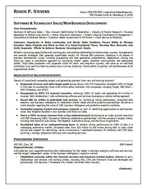 technology sales resume best resume gallery