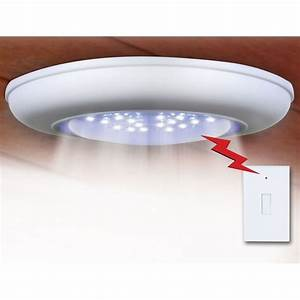 Ceiling light fixtures with remote control : Sierra tools jb battery operated ceiling wall light