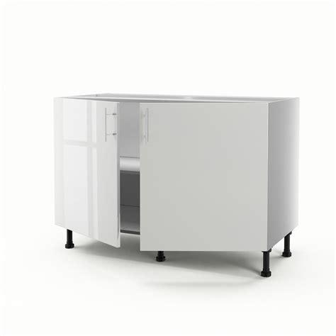 meuble de cuisine 120 cm meuble de cuisine sous évier blanc 2 portes h 70 x l 120 x p 56 cm leroy merlin