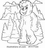 Yeti Clipart Coloring Outline Pages Printable Getcolorings Clipground sketch template