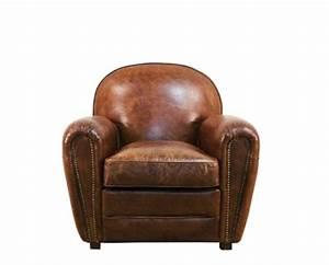 Le fauteuil club classique en cuir vintage marron au for Fauteuil cuir club