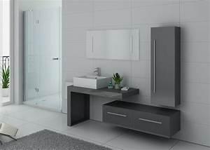 Meuble Salle De Bain Gris : meuble salle de bain ref dis9250gt ~ Preciouscoupons.com Idées de Décoration