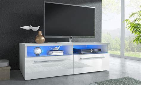hoogglans tv meubel met led licht groupon goods