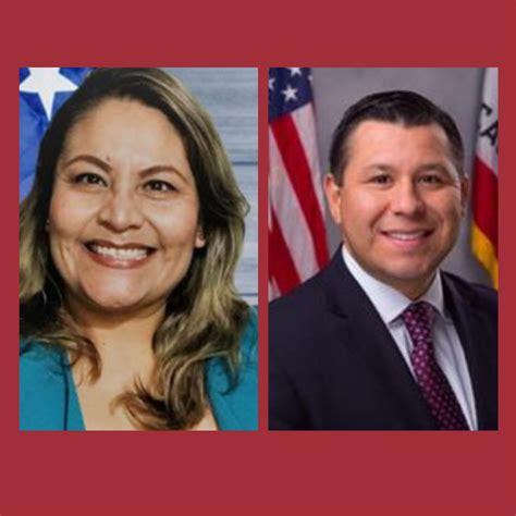 Local candidates America Figueroa and Assemblyman Eduardo ...