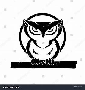 Black And White Owl Stock Vector 104102588 : Shutterstock