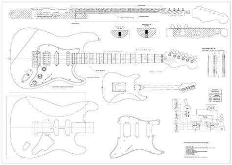 Full Scale Guitar Plans Fender Stratocaster