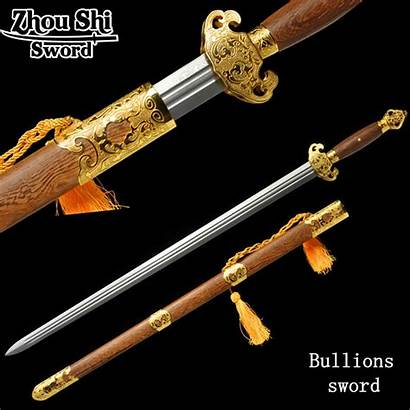 Sword Swords Chinese Medieval Styles Decoration Steel