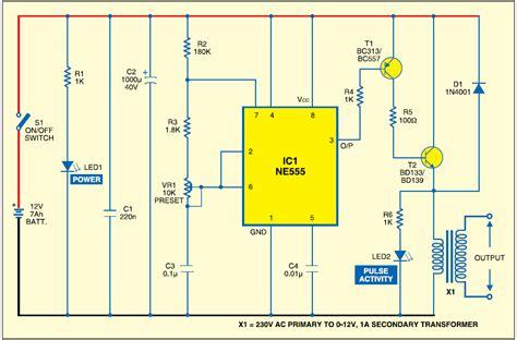 electric fence circuit diagram  electric windowfence