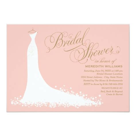 Bridal Shower Invitations - bridal shower invitation wedding gown zazzle