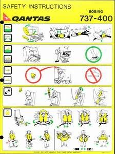 Quantas 737 Safety Instructions