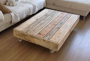 Table Basse Palettes : 1001 idee de fabrication de meuble en palette ~ Melissatoandfro.com Idées de Décoration