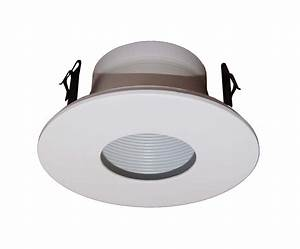 Quot line voltage stepped baffle trim for recessed light