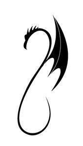 Simple dragon tattoo Simple dragon tattoo This image has