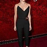 Emma Watson Wearing Oscar Renta Jumpsuit March