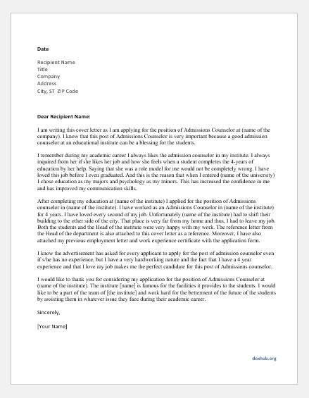 Cover Letter For Admissions Counselor by Letter Of Refund For Faulty Goods For Ms Word Document Hub