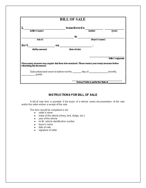 bill  sale    notarized hospinoiseworksco