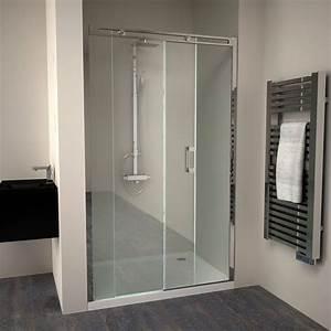 Porte de douche coulissante roller 140 cm for Porte de douche coulissante avec salle de bain haut de gamme