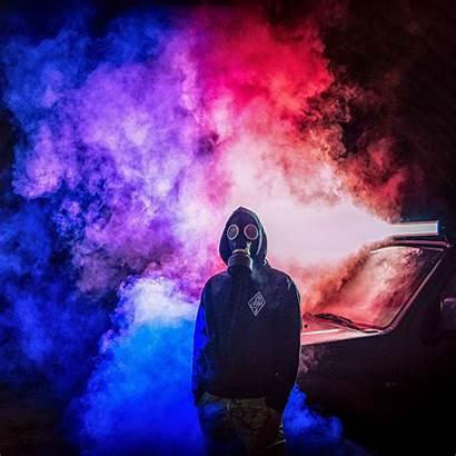 Smoke Mask Gas Colorful Background Ipad Pro