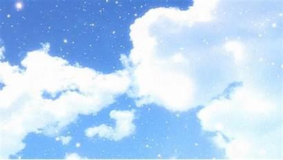 Clannad Lights Sky Clouds Anime